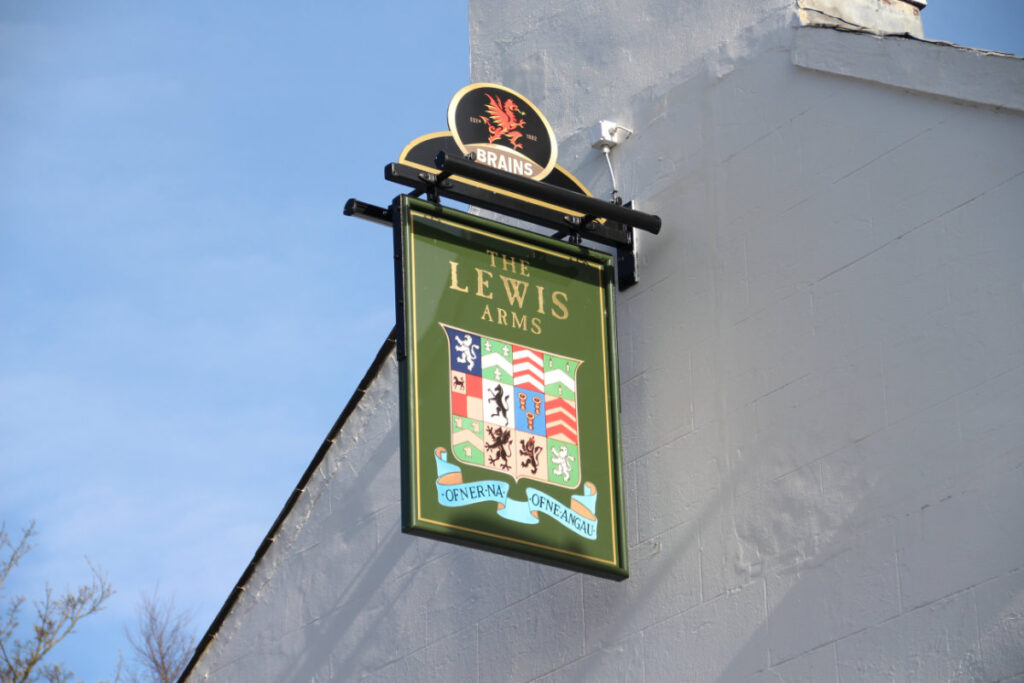 The Lewis Arms pub sign