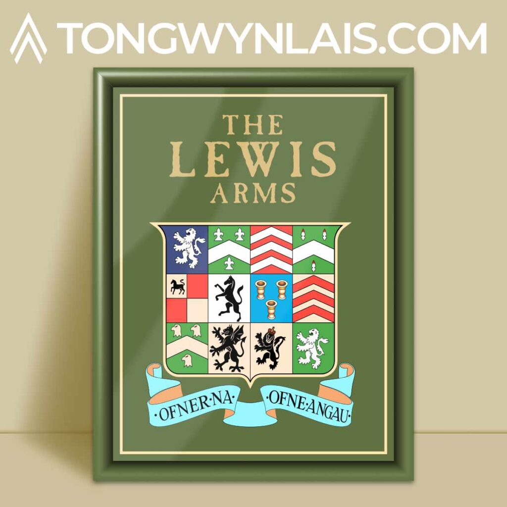 The Lewis Arms pub sign illustration
